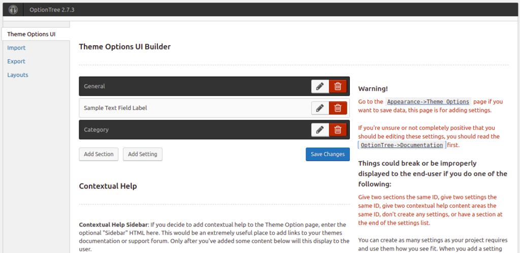 OptionTree - WordPress Theme Options framework