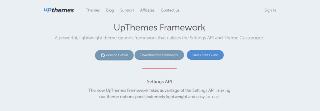 UpThemes Framework - WordPress Options framework