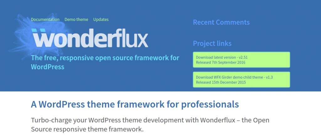 Best WordPress Theme Frameworks Comparison - wonderflux theme framework