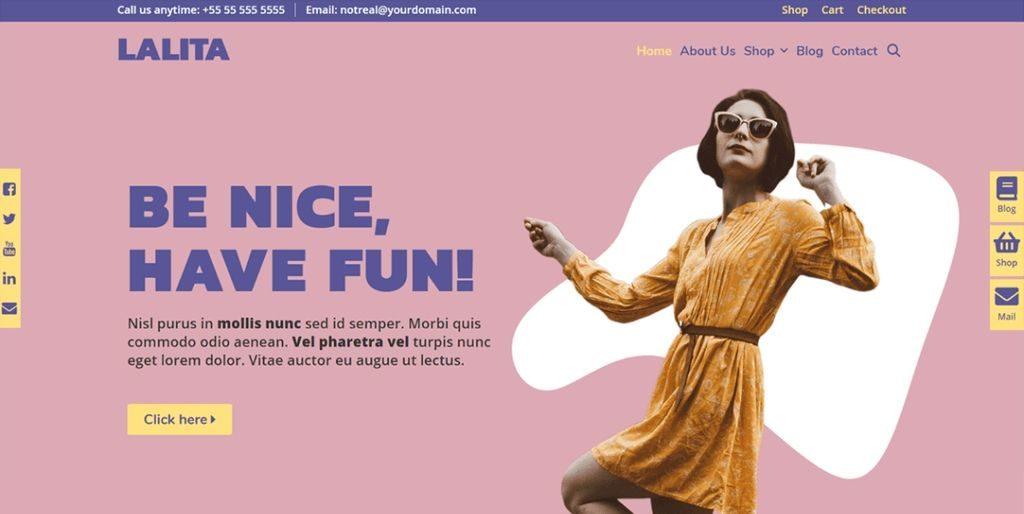 Lalita theme - 20 Fastest WordPress Themes 2019