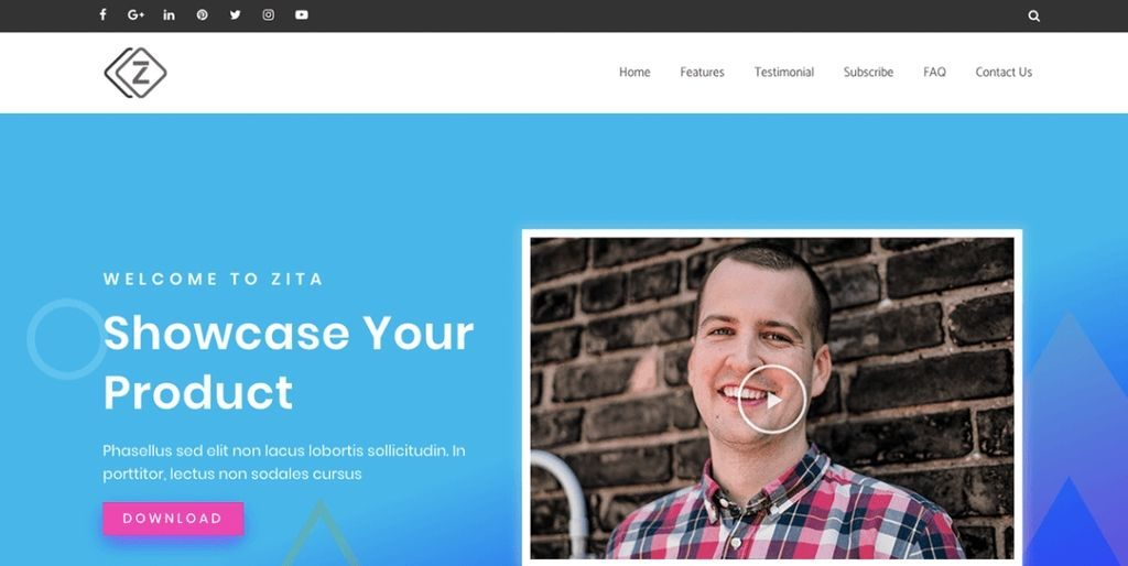Zita theme for wordpress
