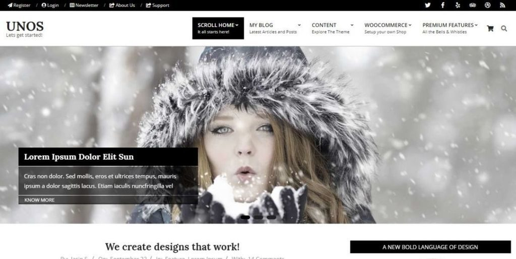Unos theme for WordPress