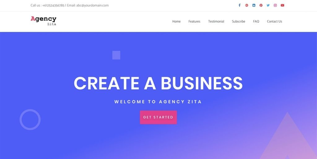 agency zita - 20 fastest wordpress theme 2019