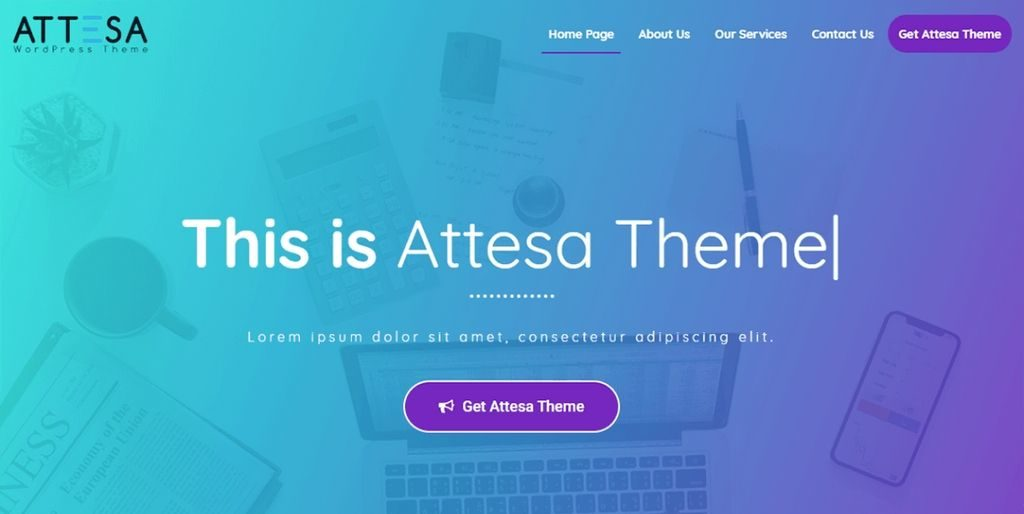 attesa theme for wordpress - 20 fastest wordpress theme 2019