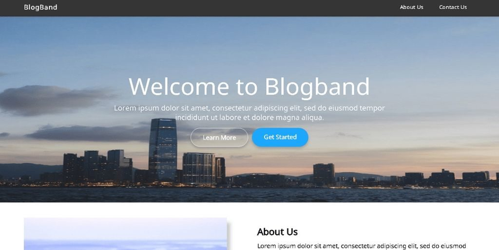 blogband theme for wordpress