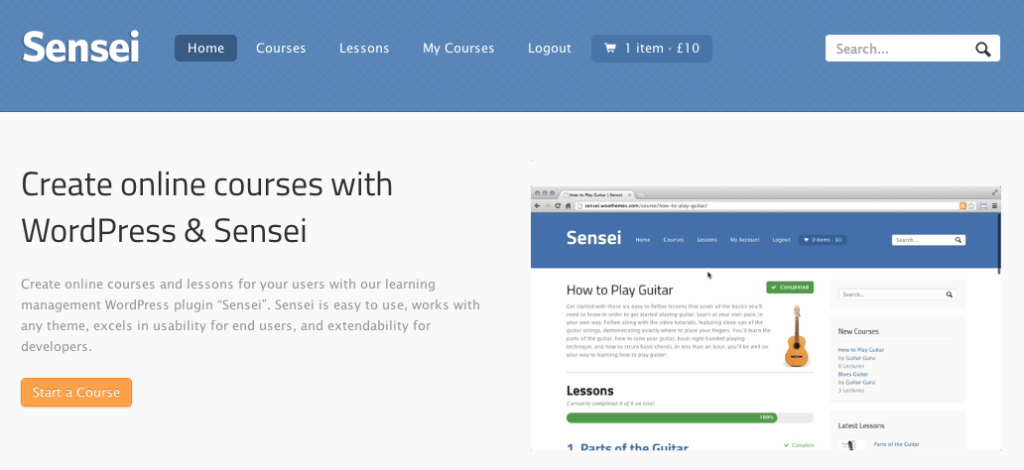 sensei lms - e-learning plugin