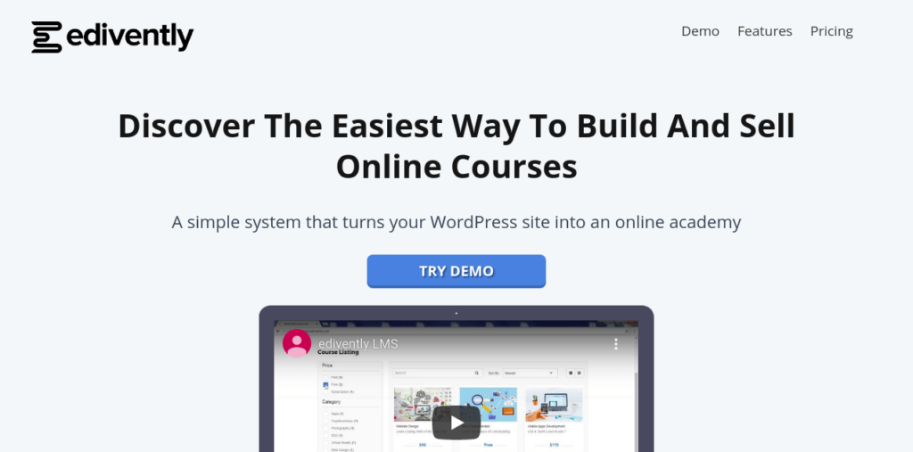 Edivently LMS for WordPress