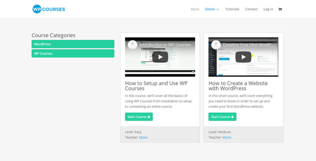wp courses - e-learning plugins for wordpress