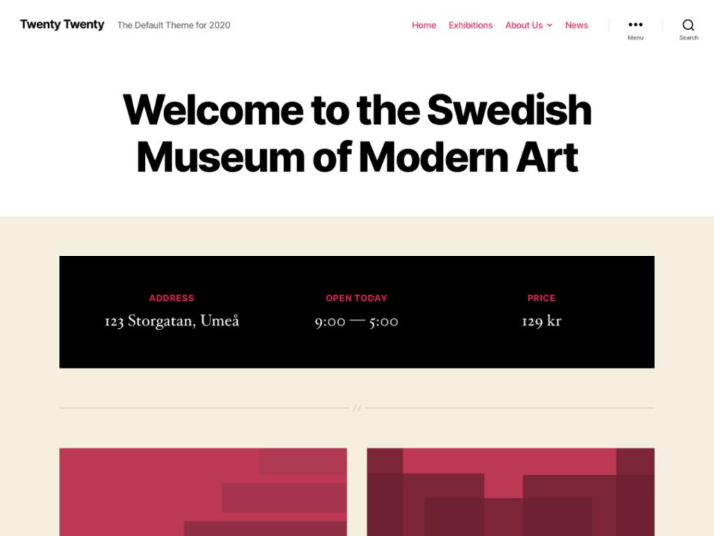 Twenty Twent Theme Screenshot - WordPress 5.3 Released (New Features and Changes)
