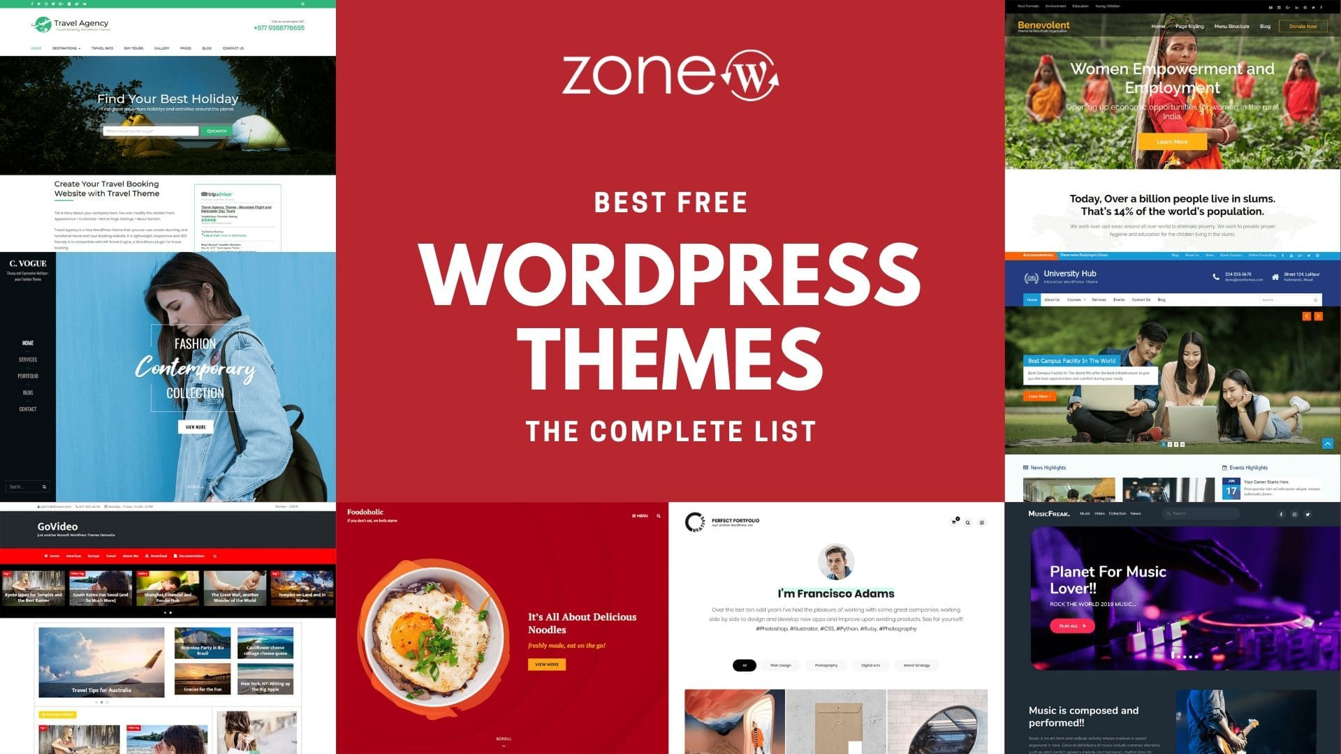 Best Free WordPress Themes – The Complete List