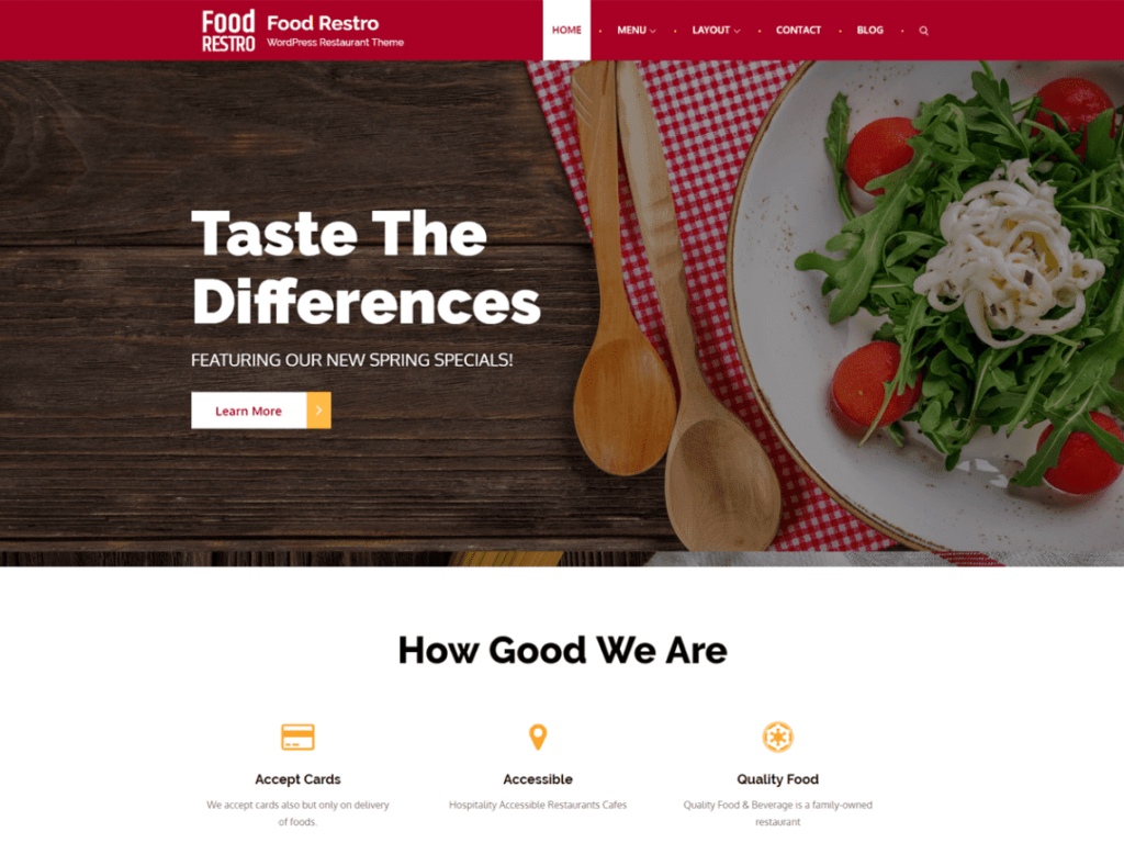 Food Restro - best WordPress Food Themes