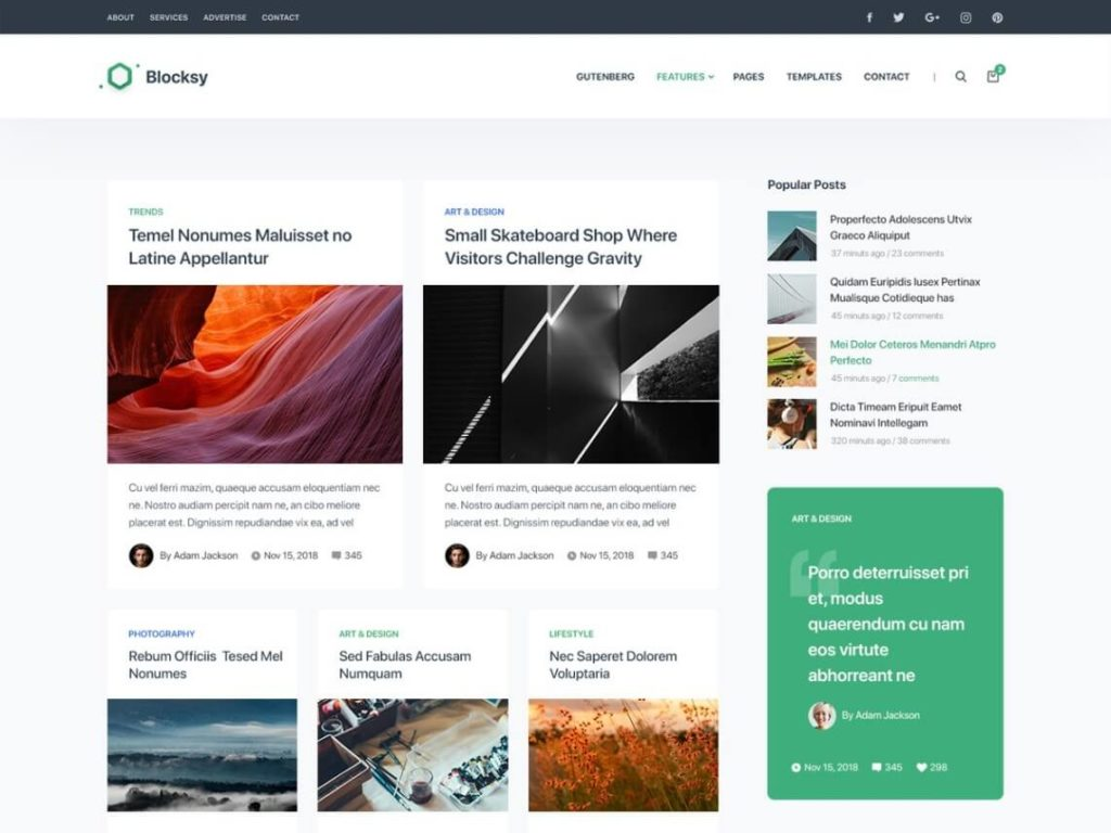Blocksy - Best WordPress Blog Theme