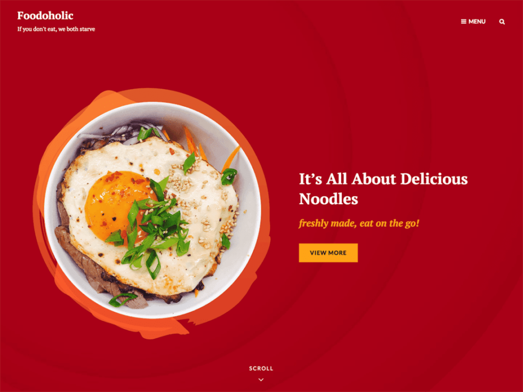 Foodoholic - Best Free WordPress Food Themes