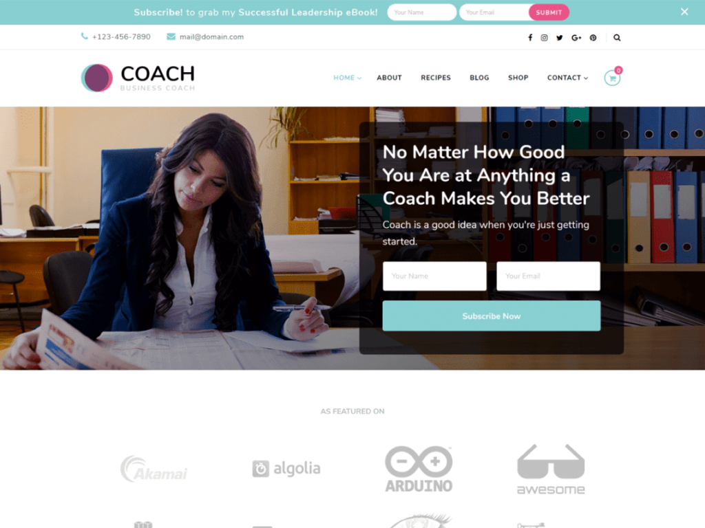 Blossom Coach - Best WordPress Hospital Theme