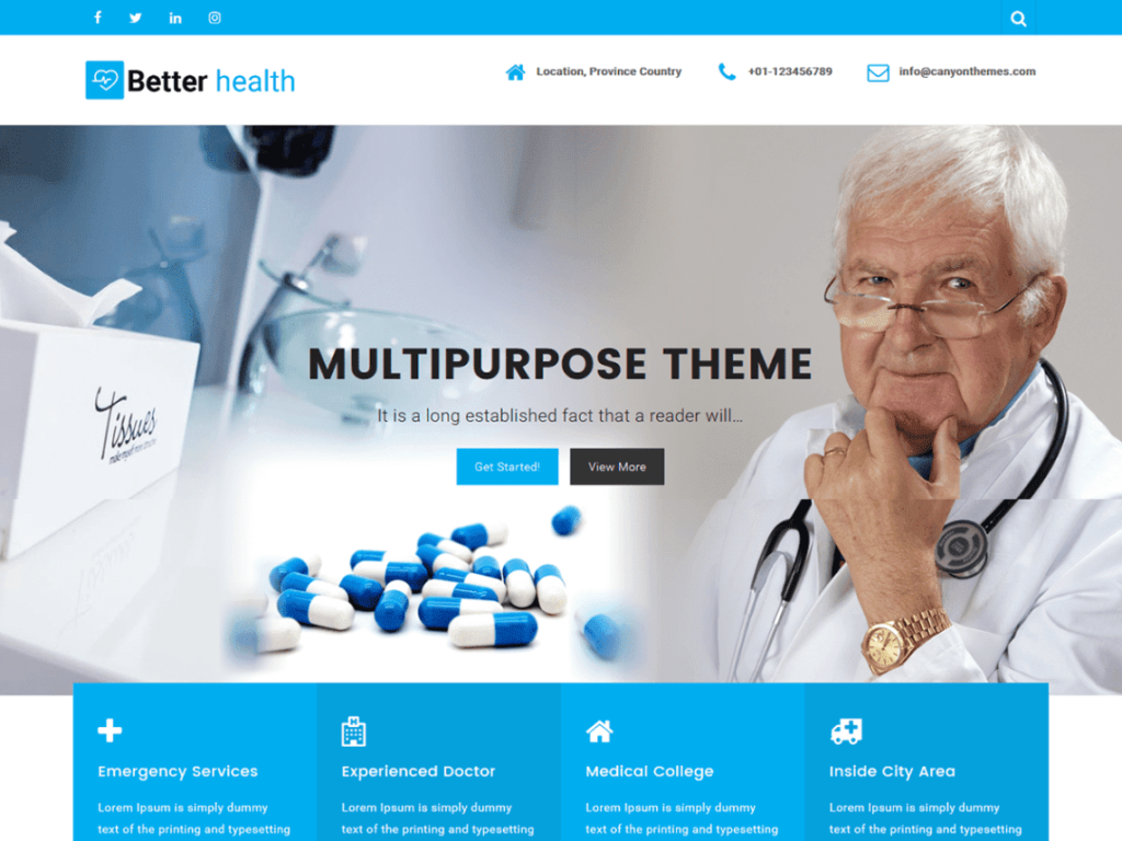 Better Health - Best WordPress Hospital Themes