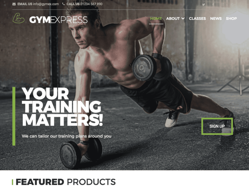 Gym Express - Best WordPress Gym Themes