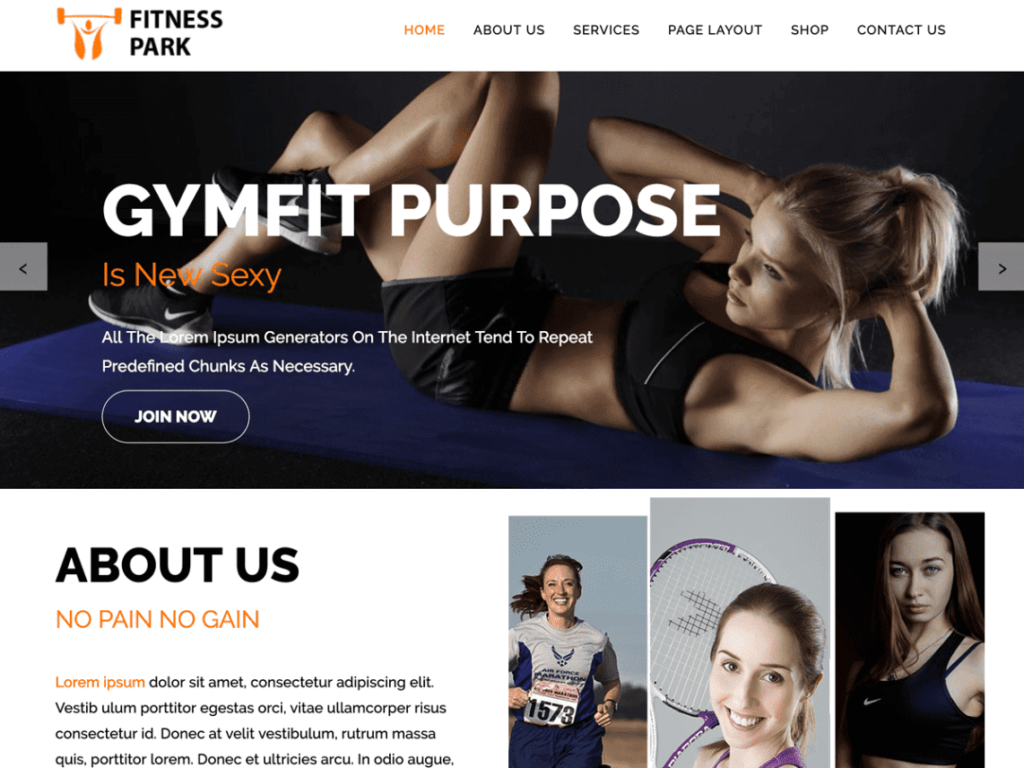 Fitness Park - Best WordPress Health and Fitness Themes