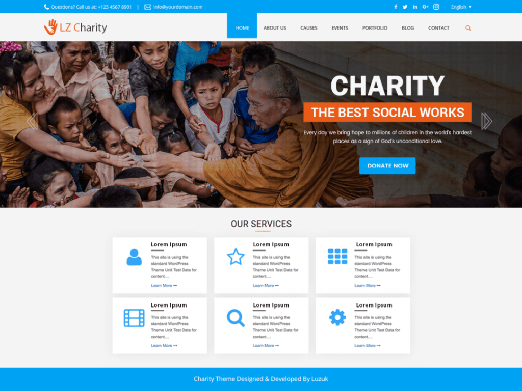 LZ Charity Welfare - Best WordPress Charity Themes