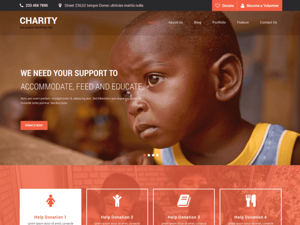 SKT Charity - Best Free WordPress Non-Profit, Charity Themes