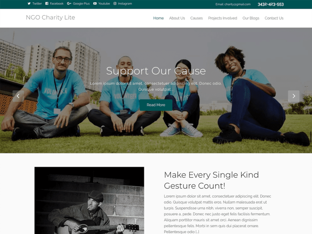 NGO Charity Lite - Best WordPress NGO, Charity, Non-Profit Themes