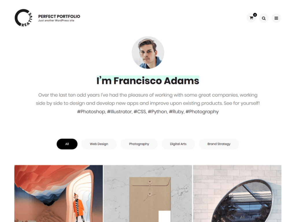 Perfect Portfolio - Best WordPress Portfolio Themes