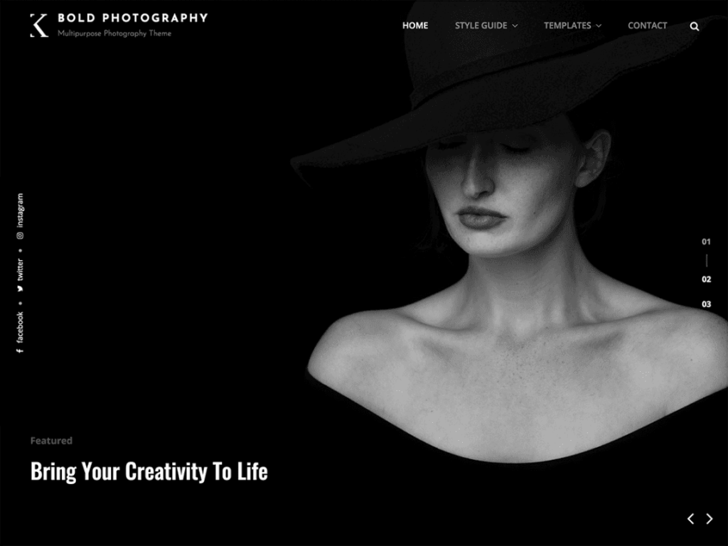 Bold Photography - Best WordPress Portfolio Themes