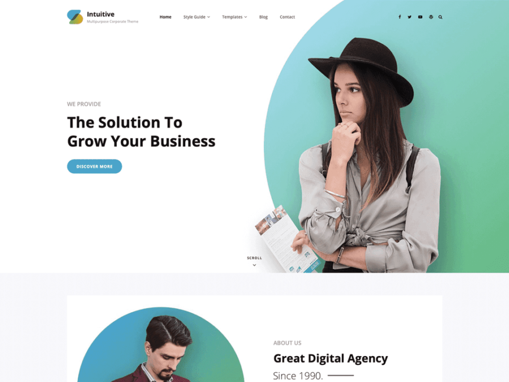 Intuitive - Best Free WordPress Portfolio Themes