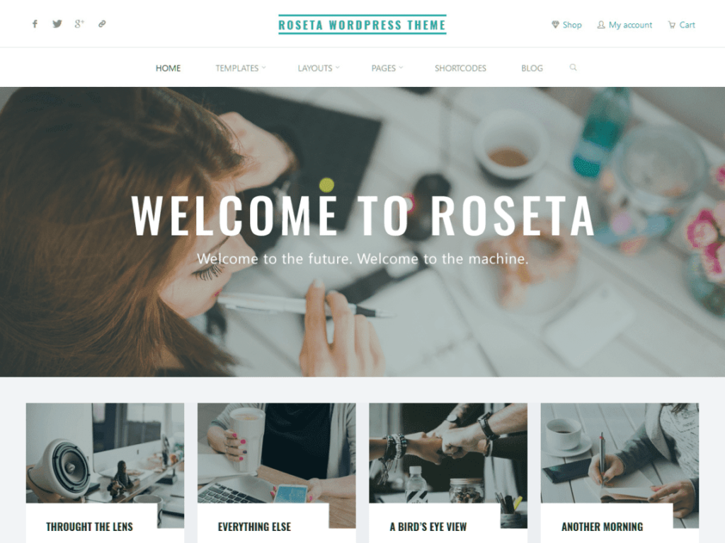 Roseta - Best Free WordPress Portfolio, Art Gallery, Photography themes