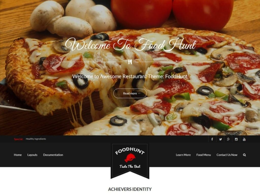 FoodHunt - Best WordPress Food Themes