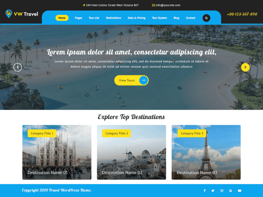 VW Travel - Best WordPress Travel Themes