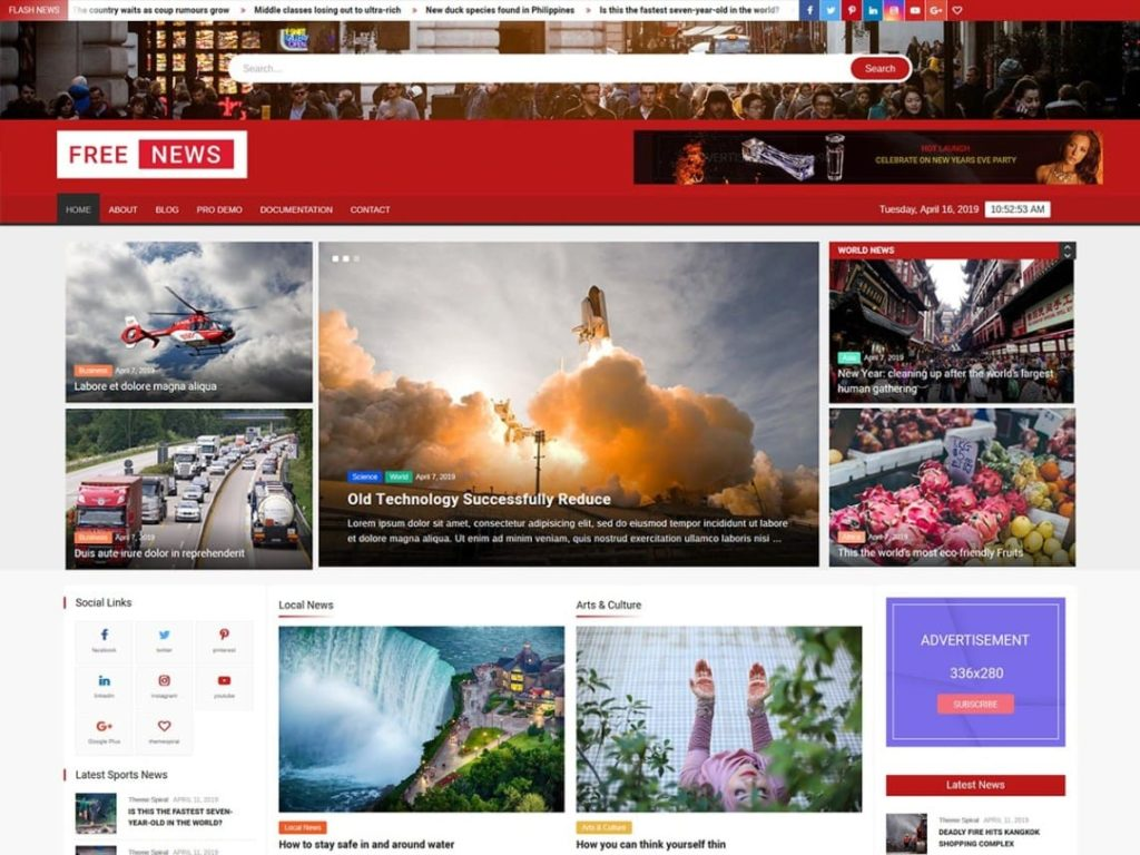 FreeNews - Best WordPress News Themes