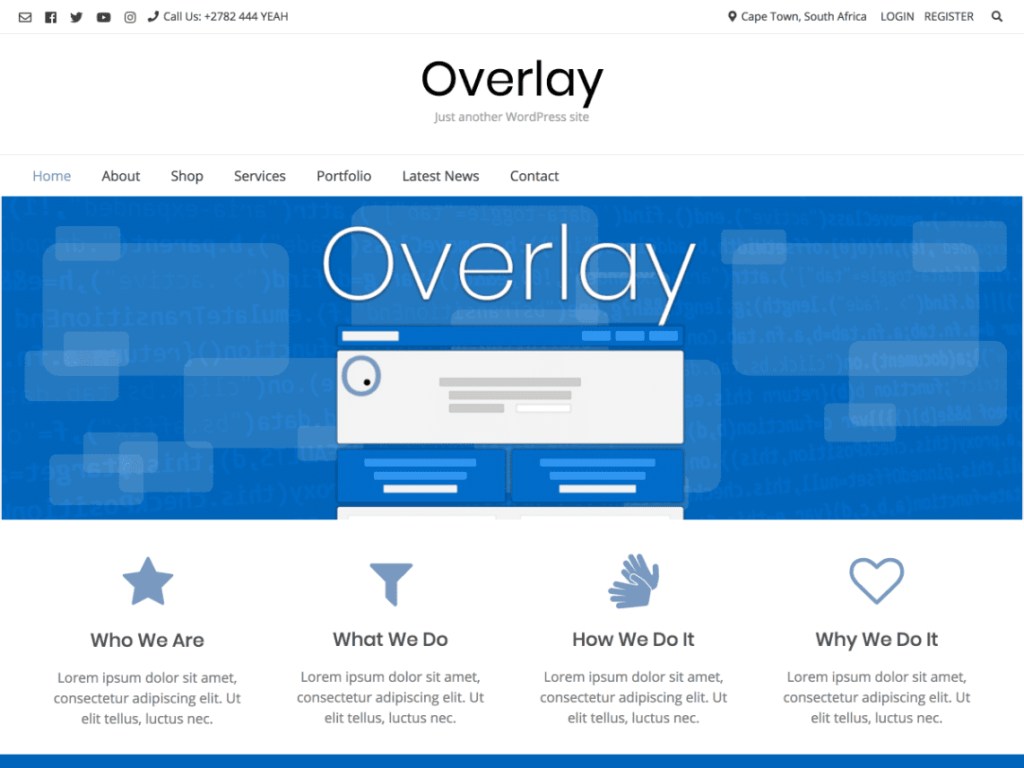 Overlay - Best Free WordPress Theme