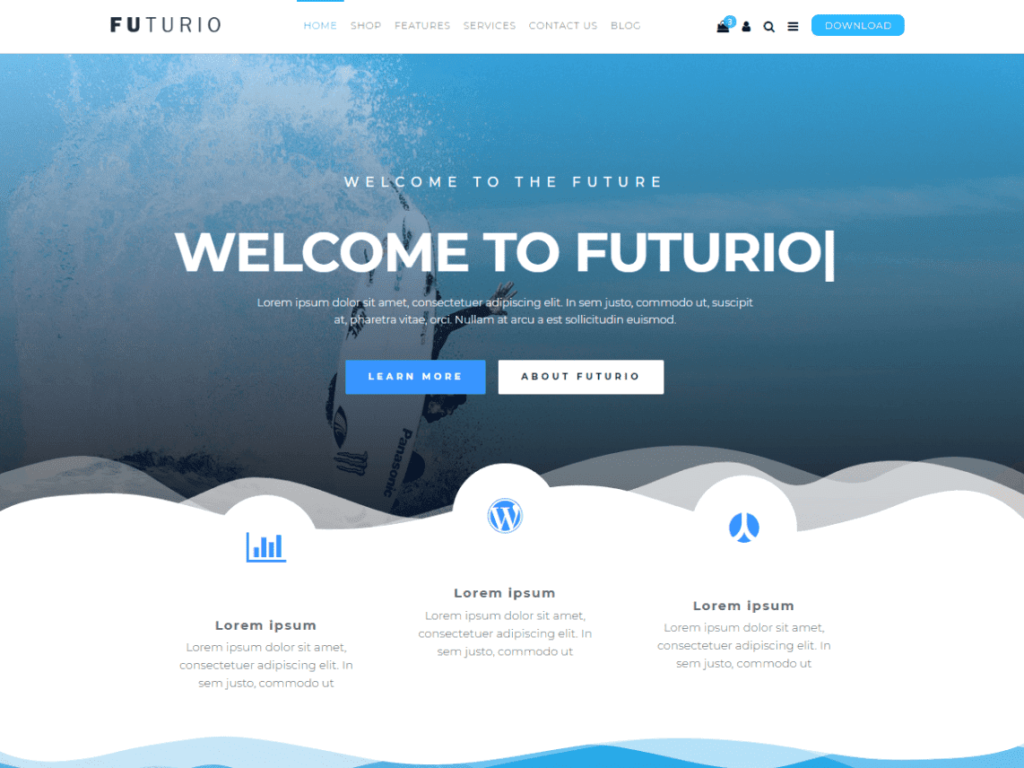 Futurio - Best WordPress Theme