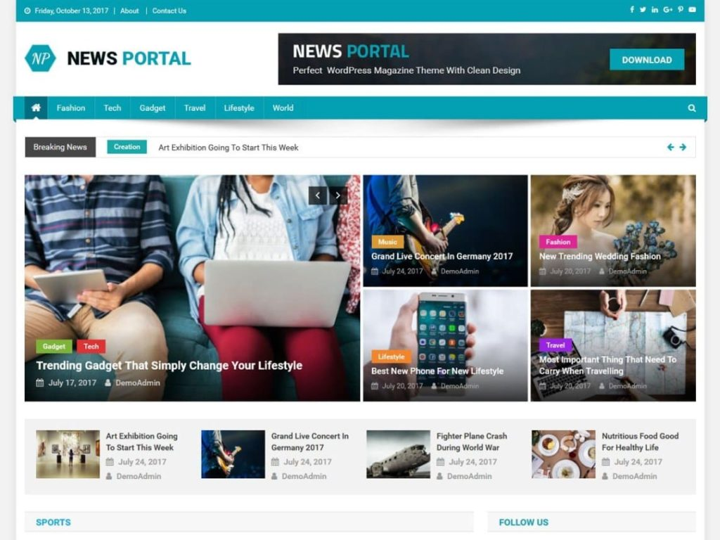 News Portal - Best WordPress News and Magazine Themes