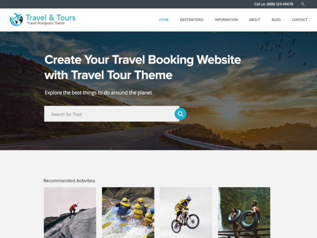 Travel Tour - Best Free WordPress Travel Themes