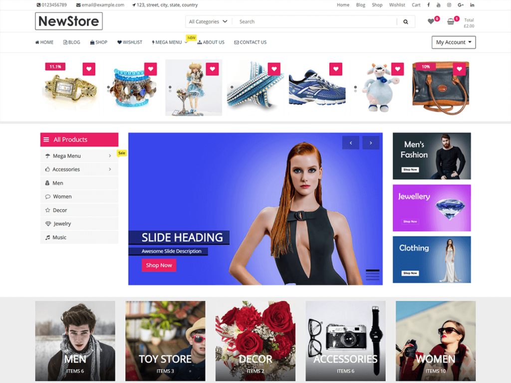 New Store - Best Free WordPress ECommerce Theme