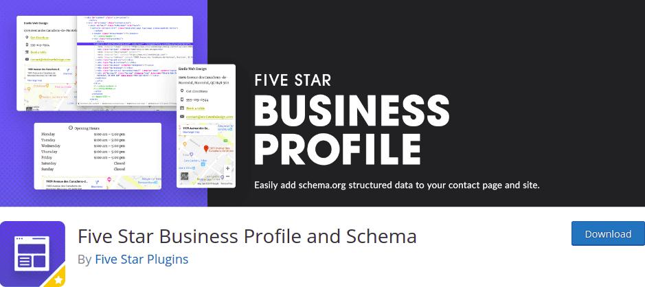 Five Star Business Profile and Schema