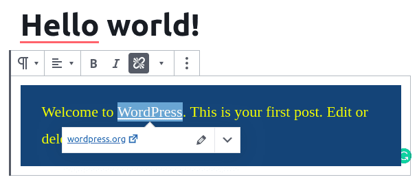 the Link UI has been updated in the Rich Text formats in the Gutenberg 7.4