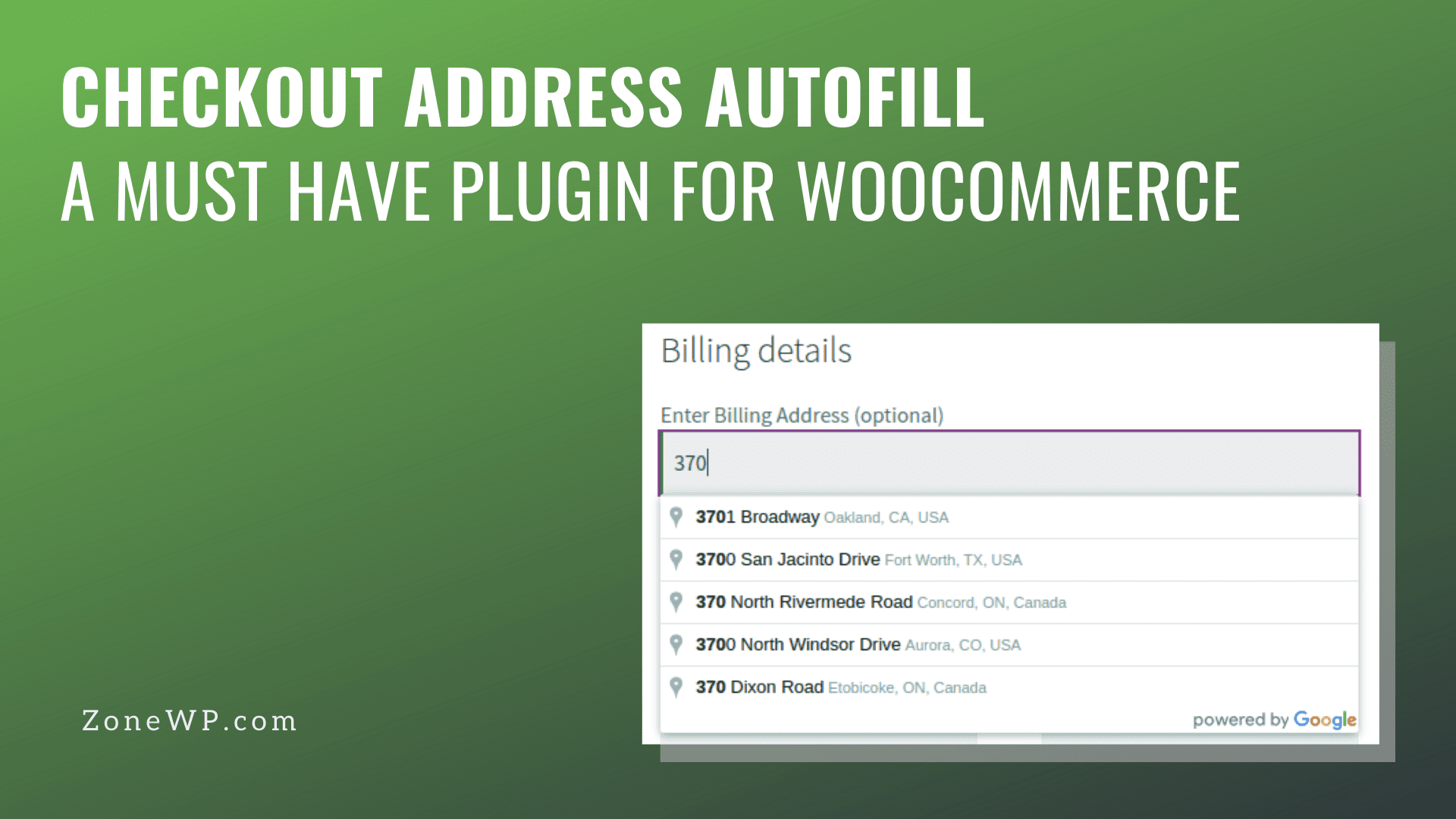 Checkout address autofill A must have plugin for woocommerce