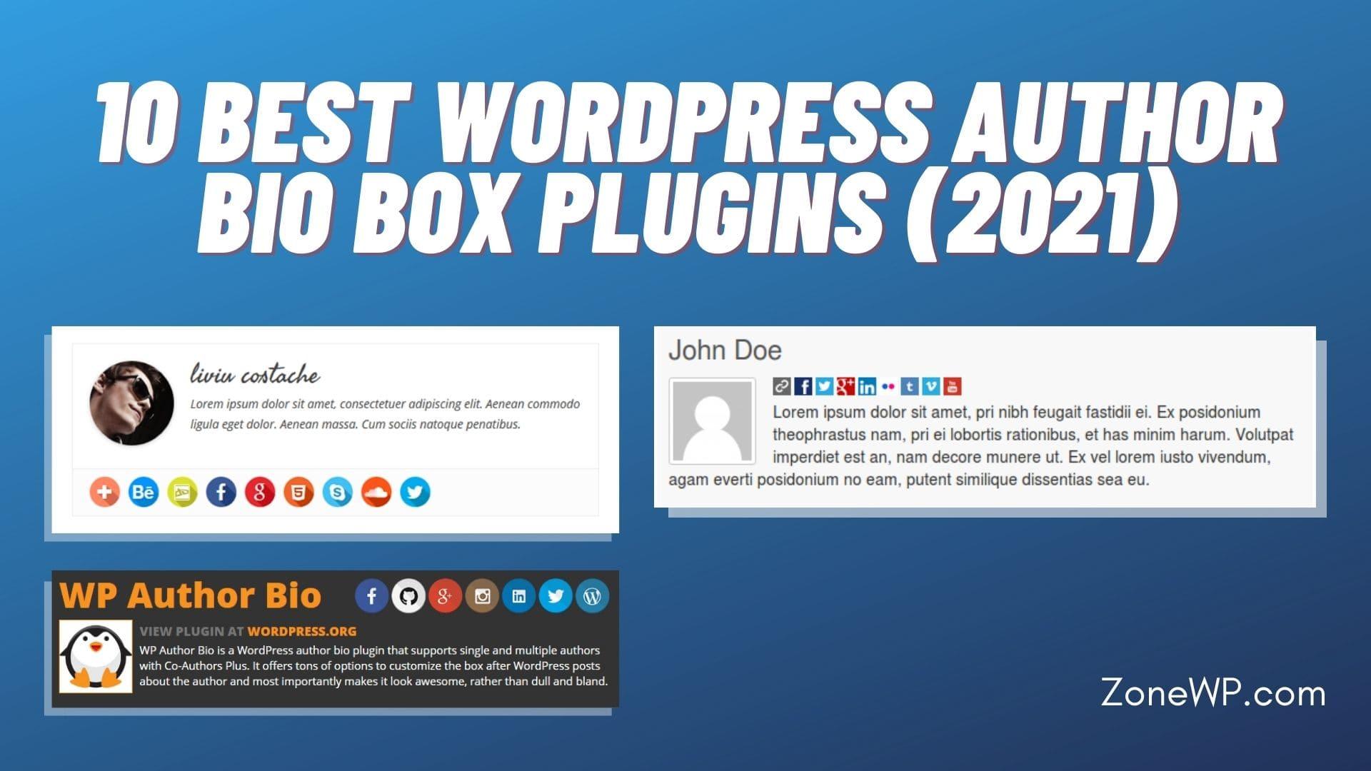10 Best WordPress Author Bio Box Plugins (2021)