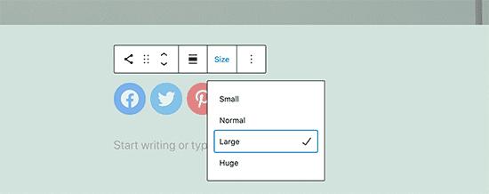 Adjusting Social Icon Sizes, WordPress 5.7