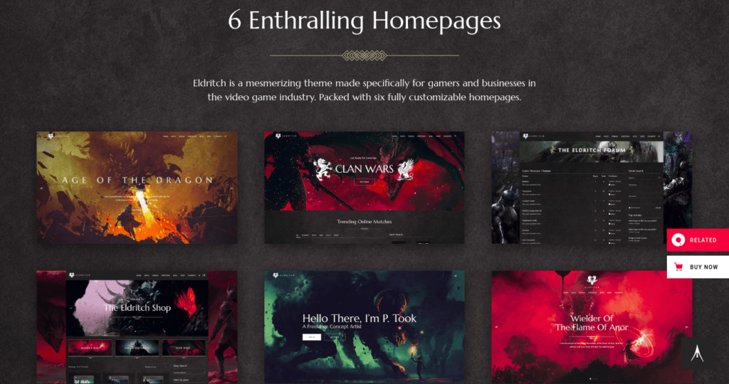 Eldritch, Gaming Themes