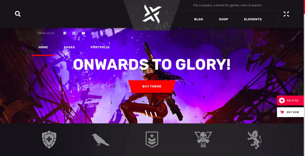 playerx gaming theme