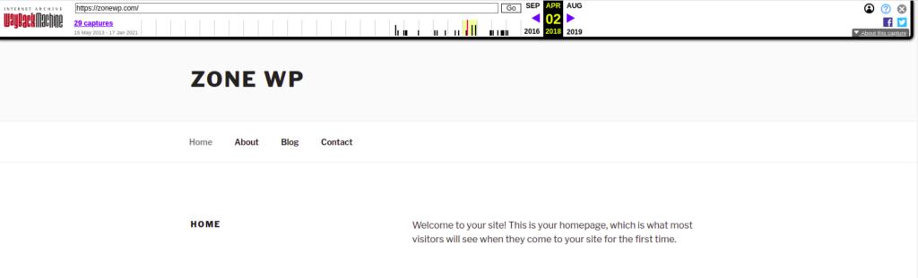 zonewp website in 2018