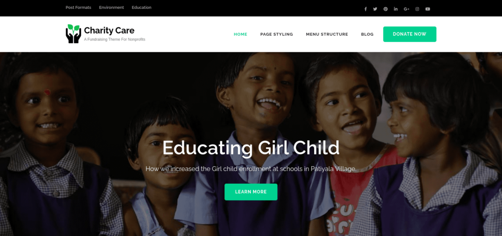Charity Care, WordPress Theme for Nonprofits