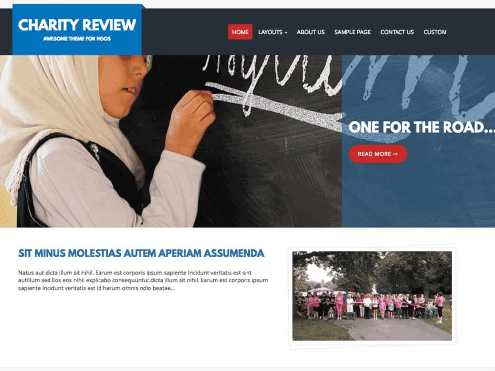 Charity Review, WordPress Theme for Nonprofits