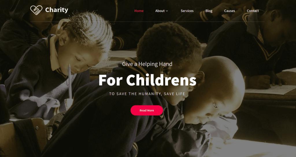 Pin Charity, WordPress Theme for Nonprofits