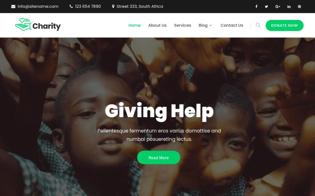 SKT Charity, WordPress Theme for Nonprofits