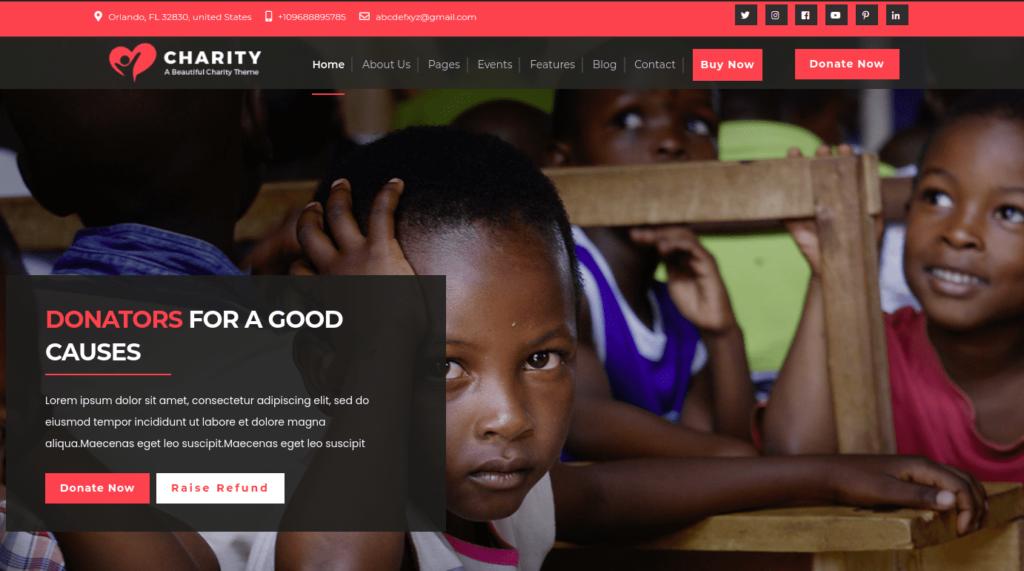 VW CHarity NGO, WordPress Theme for Nonprofits