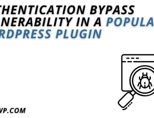 Authentication Bypass Vulnerability in a Popular WordPress Plugin